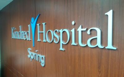 Kindred Hospital - Spring - Reception Sign