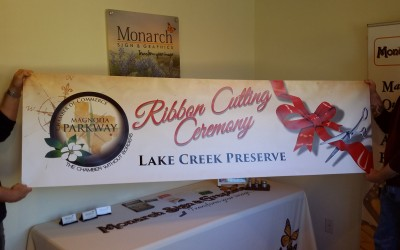 Magnolia Parkway Chamber of Commerce Ribbon Cutting Banner