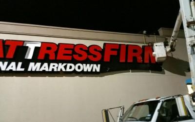 Mattress Firm - Retail Store Sign Installation