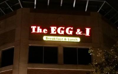 The Egg & I - Franchise Illuminated Business Sign