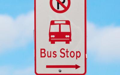 bus stop sign no parking