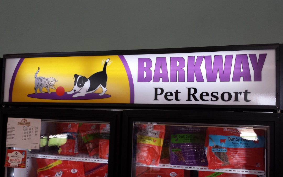 Custom Vinyl Freezer Display Inserts for Pet Resort Near Tomball, TX