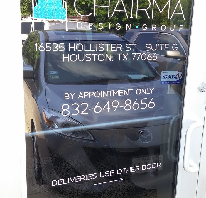 One of a Kind Window Graphics for Store Front in Houston, TX