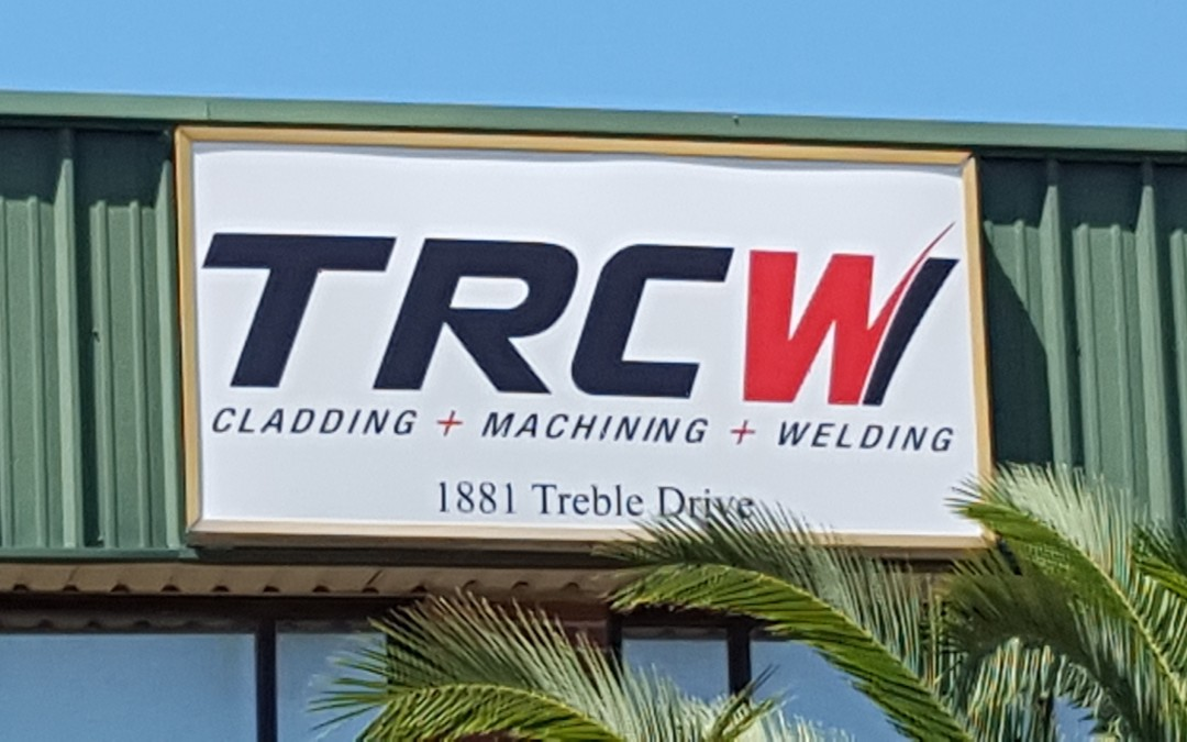 HUMBLE, TX – Custom Building Sign for Equipment Manufacturer TRCW