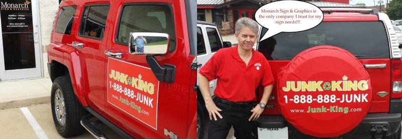 HOUSTON, TX – Custom Vehicle Magnets for Junk Removal Service JUNK KING