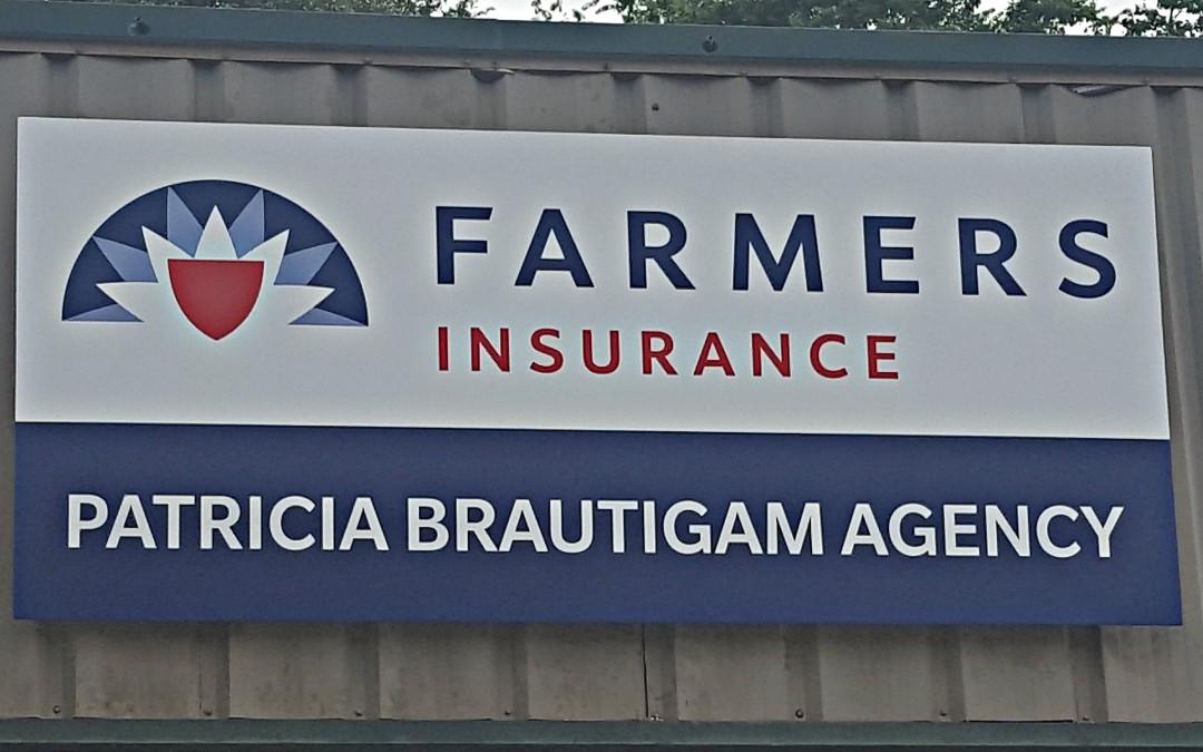 MAGNOLIA, TX – Custom Building Sign for Farmers Insurance –  Patricia Brautigam Agency