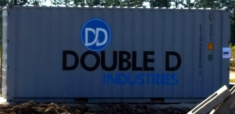 HOUSTON TX – Custom Container Graphics for Site Utilities Company Double D Industries