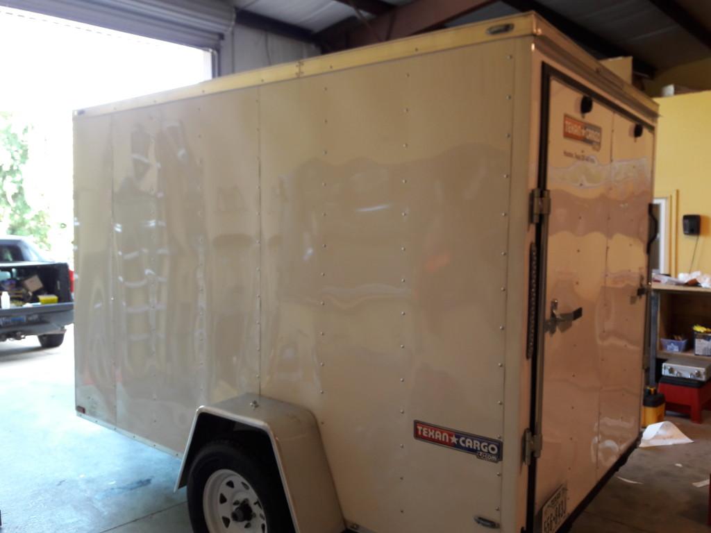 blank canvas trailer