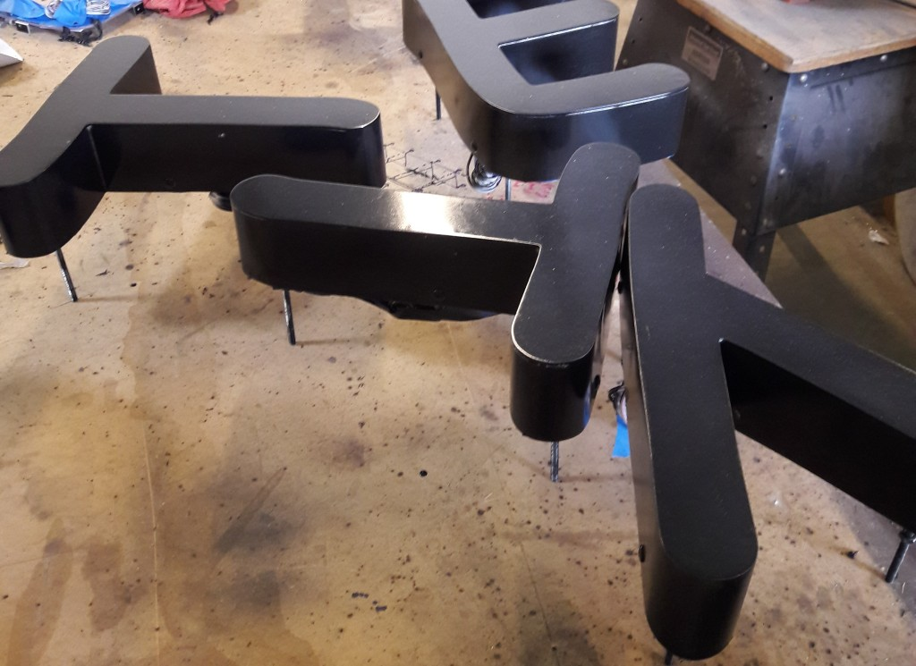 Letter sign painted and ready for installation