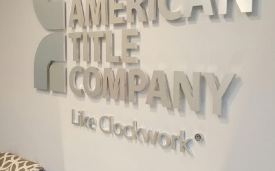 North American Title Company - The Woodlands - Reception Sign