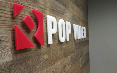 Pop Video - Houston - Lobby Sign