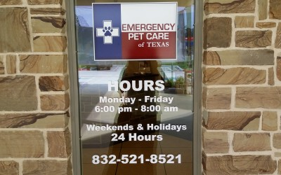 Emergnecy Pet Care of Texas Window