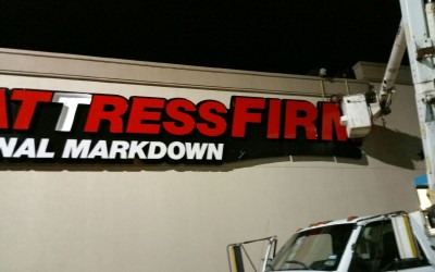 Mattress Firm - Retail Store Sign Installation