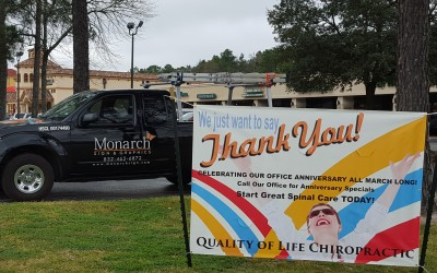 Quality of Life Chiropractic -  Special Event Outdoor Banner - Double Sided