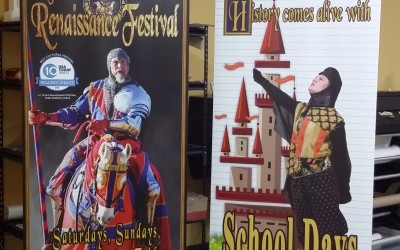 Texas Renaissance Festival Promotional Retractable Banners