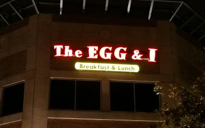 The Egg & I - Franchise Illuminated Business Sign