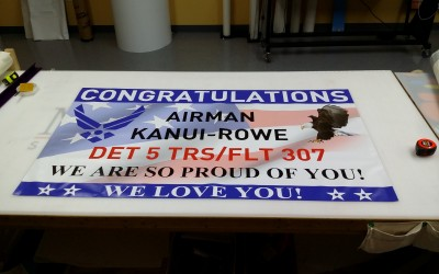 US Air Force Custom Graduation Banner