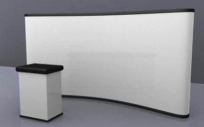blank trade show booth for designers
