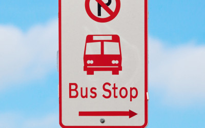 bus stop sign no parking