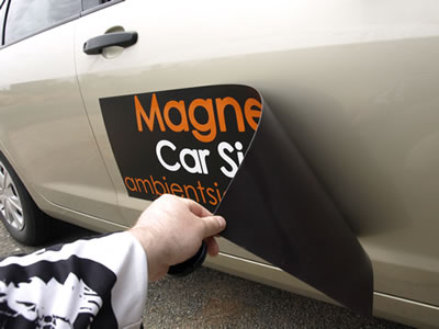 Magnetic Car Magnet Signs in Houston, TX for Construction Company