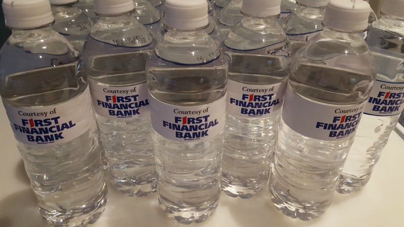 Custom Water Bottle Wraps – FIRST FINANCIAL BANK – Magnolia, TX