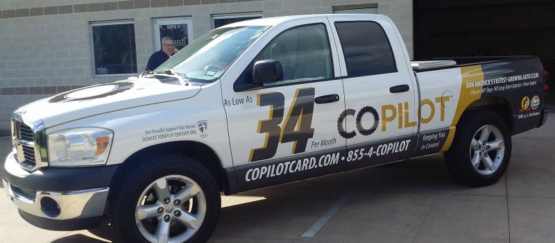 TOMBALL, TX – Custom Business Truck Wrap for Vehicle Warranty and Service Provider CoPilot