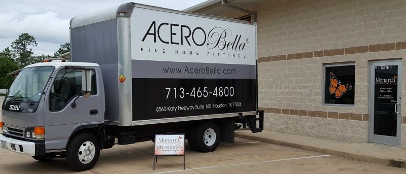 Houston, TX – Elegant Truck Wrap for Plumbing Retailer Acero Bella