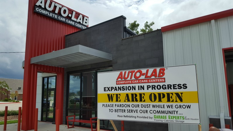 SPRING, TX – Custom Construction Sign for Automotive Repair Company Auto-Lab Complete Car Care Centers of Gleannloch Farms