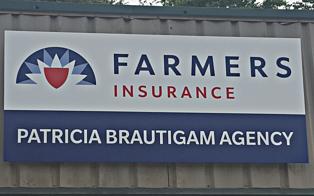 MAGNOLIA, TX – Custom Building Sign for Farmers Insurance –  Patricia Brautigam Agency