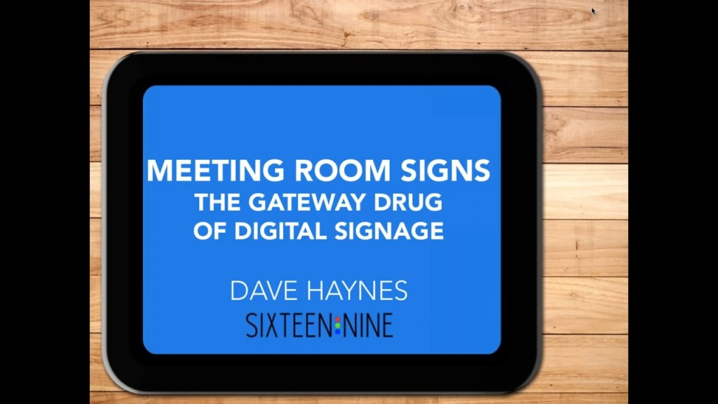 conference room digital sign