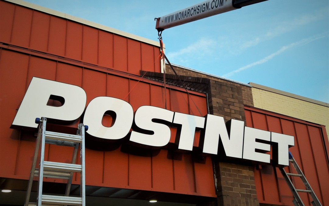 Designing a Front Lit Channel Letter Sign for PostNet Tomball, TX