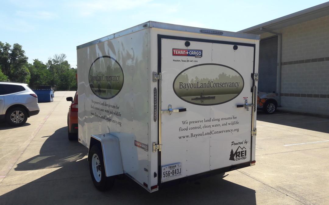Trailer Graphics Custom Cut for Bayou Land Conservancy