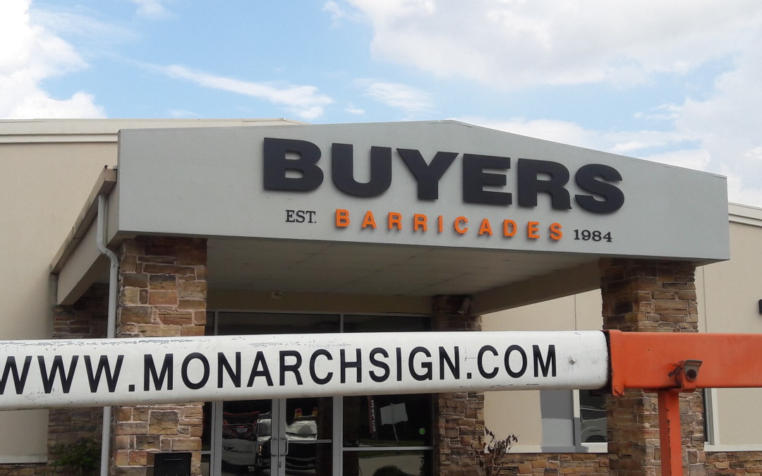 Exterior Signage Solution for Buyers Barricades